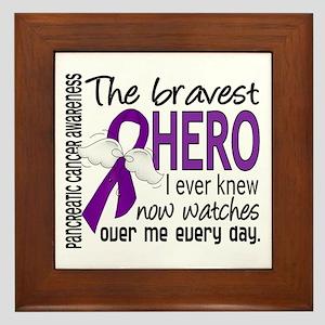Bravest Hero I Knew Pancreatic Cancer Framed Tile