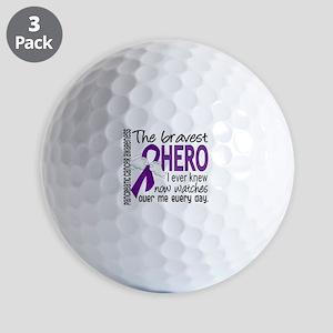 Bravest Hero I Knew Pancreatic Cancer Golf Balls