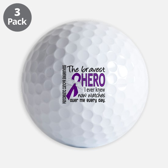 Bravest Hero I Knew Pancreatic Cancer Golf Ball