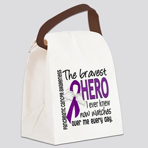 Bravest Hero I Knew Pancreatic Cancer Canvas Lunch