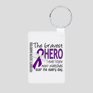 Bravest Hero I Knew Pancreatic Cancer Aluminum Pho