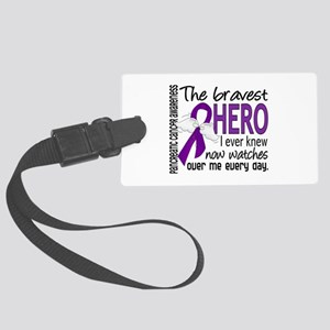 Bravest Hero I Knew Pancreatic Cancer Large Luggag