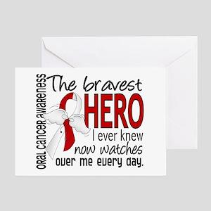 Bravest Hero I Knew Oral Cancer Greeting Card