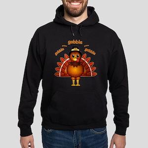 Gobble Gobble Turkey Hoodie (dark)