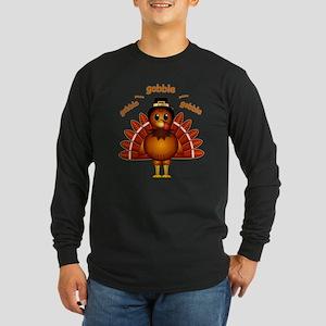 Gobble Gobble Turkey Long Sleeve Dark T-Shirt