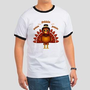 Gobble Gobble Turkey Ringer T