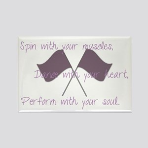 Colorguard Spin with your muscles, dance with your