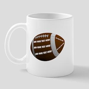 Personalizable Football 11 oz Ceramic Mug