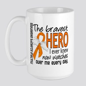 Bravest Hero I Knew Multiple Sclerosis Large Mug