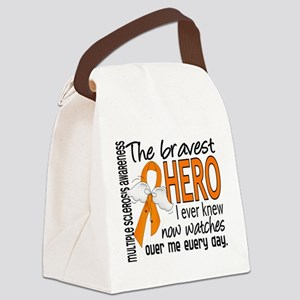 Bravest Hero I Knew Multiple Sclerosis Canvas Lunc