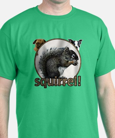 Squirrel and dogs T-Shirt