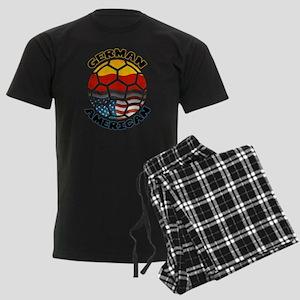 German American Football Soccer Men's Dark Pajamas