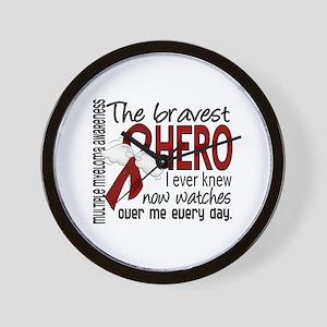 Bravest Hero I Knew Multiple Myeloma Wall Clock