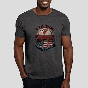 Polish American Soccer Football Dark T-Shirt