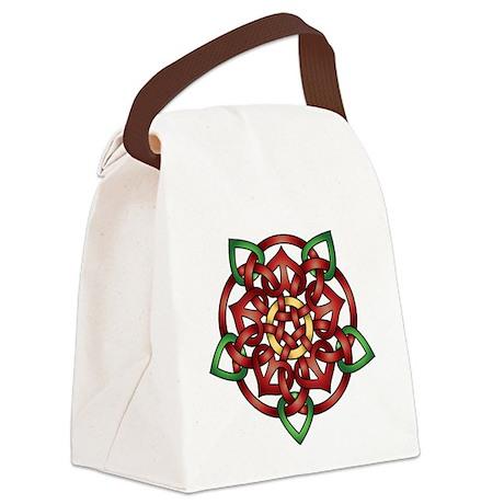 3-Red Celtic Rose.tif Canvas Lunch Bag