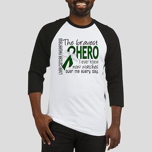 Bravest Hero I Knew Liver Cancer Baseball Jersey