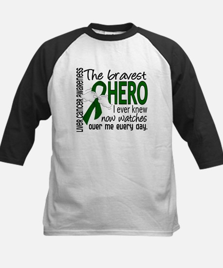 Bravest Hero I Knew Liver Cancer Kids Baseball Jer