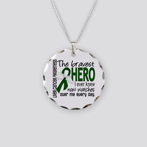 Bravest Hero I Knew Liver Cancer Necklace Circle C