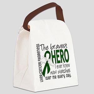 Bravest Hero I Knew Liver Cancer Canvas Lunch Bag