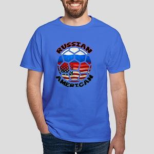 Russian American Football Soccer Dark T-Shirt