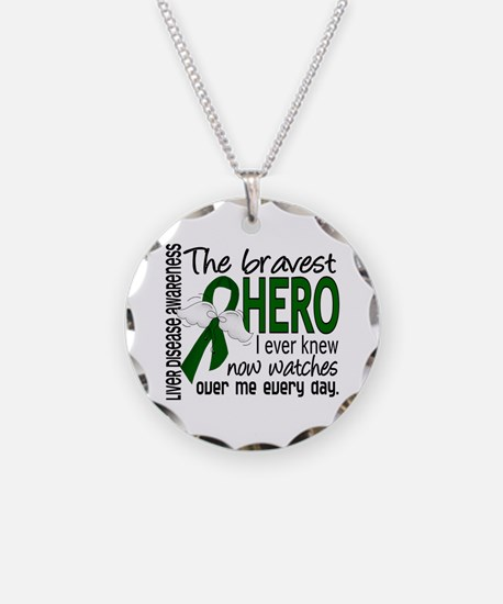 Bravest Hero I Knew Liver Disease Necklace