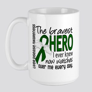 Bravest Hero I Knew Liver Disease Large Mug