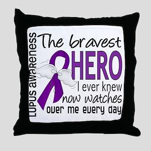 Bravest Hero I Knew Lupus Throw Pillow