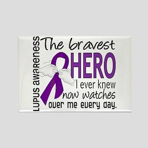 Bravest Hero I Knew Lupus Rectangle Magnet