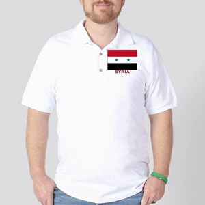 Syria Flag Merchandise Golf Shirt