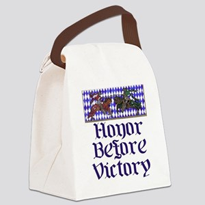 Honor Before Victory Canvas Lunch Bag