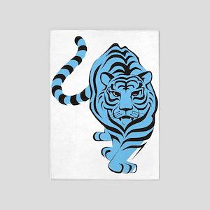 Blue Tiger Icon 5'x7'Area Rug
