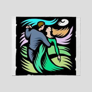 Night Dancing Throw Blanket