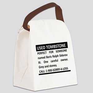 Used Tombstone Canvas Lunch Bag