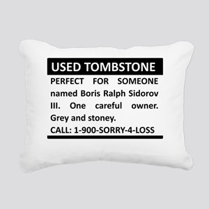 Used Tombstone Rectangular Canvas Pillow