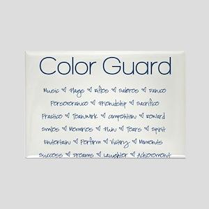 Color Guard Navy Blue Rectangle Magnet