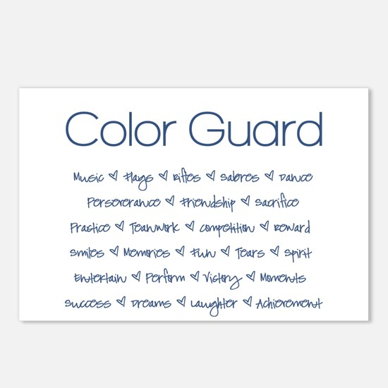 Color Guard Navy Blue Postcards (Package of 8)