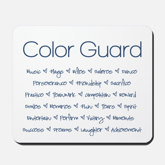 Color Guard Navy Blue Mousepad