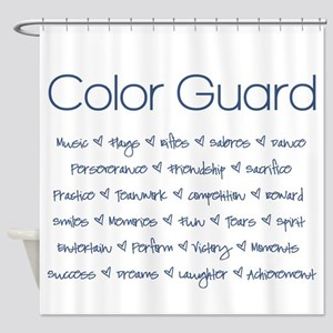 Color Guard Navy Blue Shower Curtain