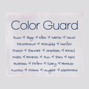 Color Guard Navy Blue Throw Blanket