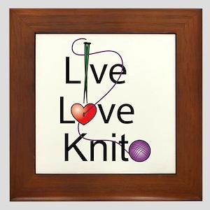Live Love KNIT Framed Tile