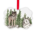 Alpha Female Wolf Picture Ornament