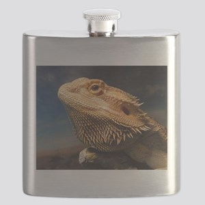 .young bearded dragon. Flask