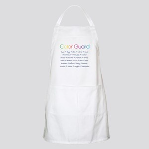 Color Guard Rainbow and Navy Blue Apron