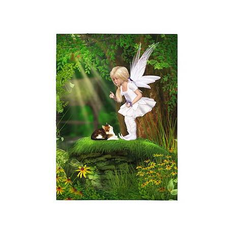 Cute Fairy 5'x7'Area Rug