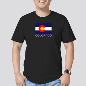 CO - Colorado Men's Fitted T-Shirt (dark)