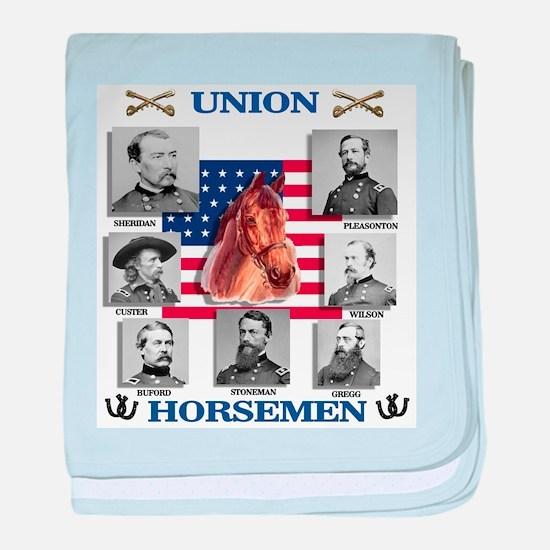 Union Horsemen baby blanket