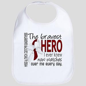 Bravest Hero I Knew Head and Neck Cancer Bib
