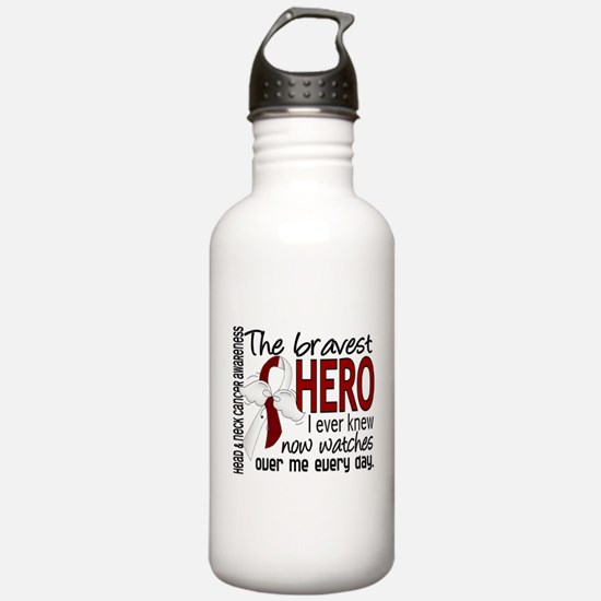 Bravest Hero I Knew Head and Neck Cancer Water Bottle