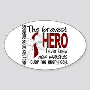 Bravest Hero I Knew Head and Neck Cancer Sticker (