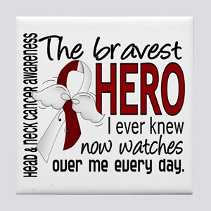 Bravest Hero I Knew Head and Neck Cancer Tile Coas